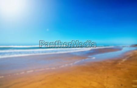defocused australian coast