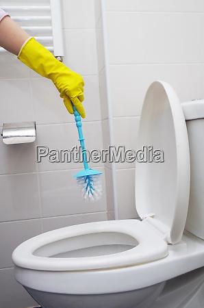home restroom clean