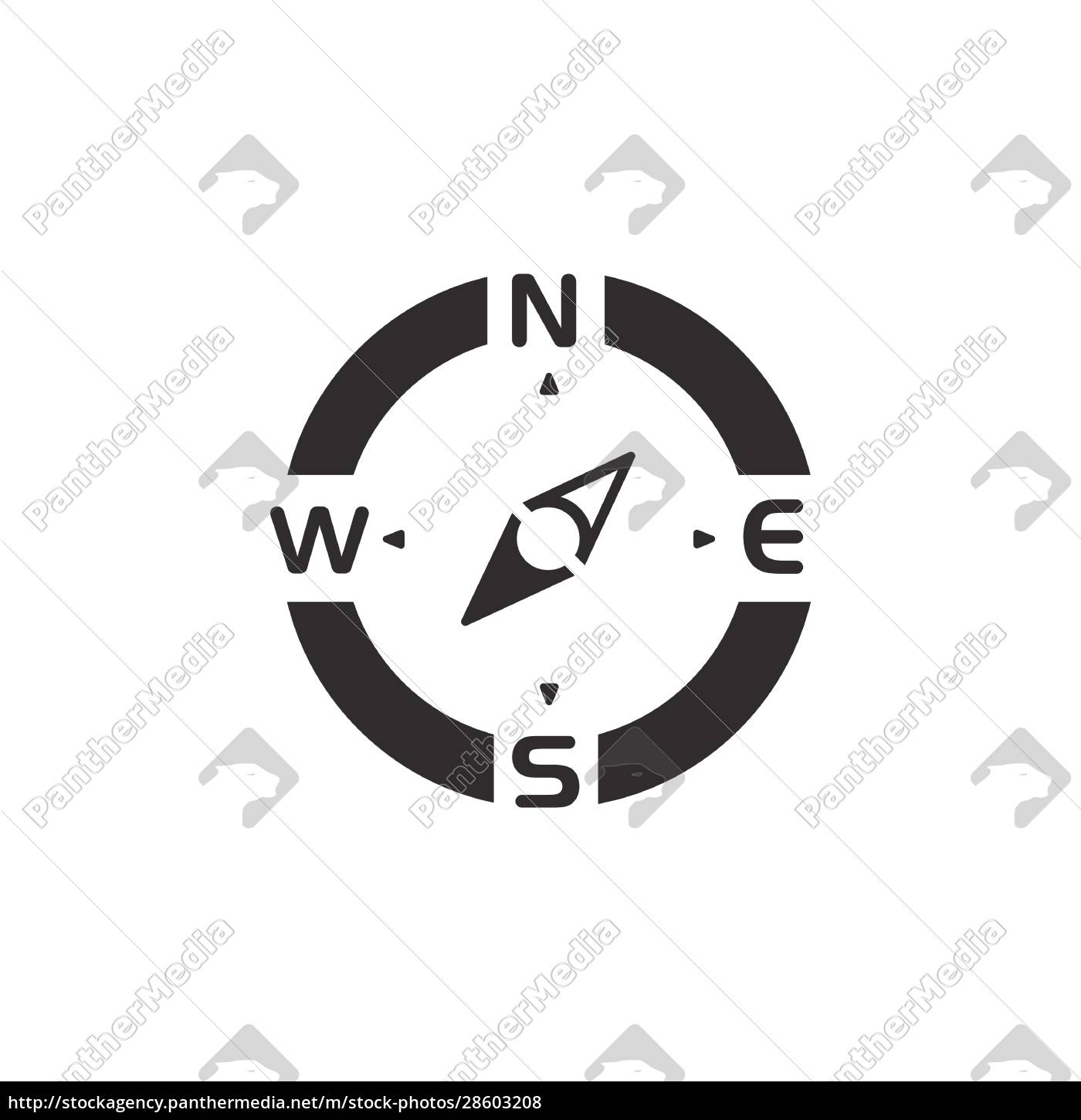 compass., south, west, direction., icon., weather - 28603208