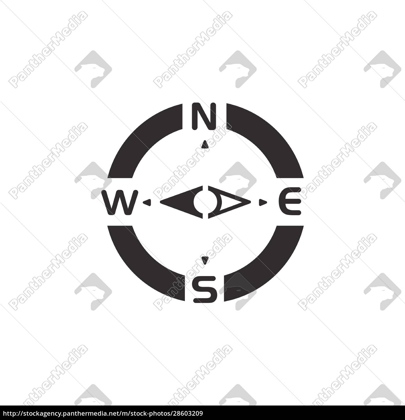 compass., west, direction., icon., weather, and - 28603209