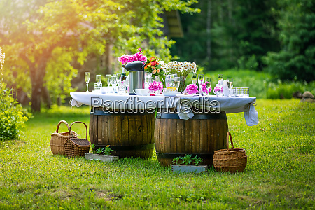 beautiful banquet buffet table decorated in