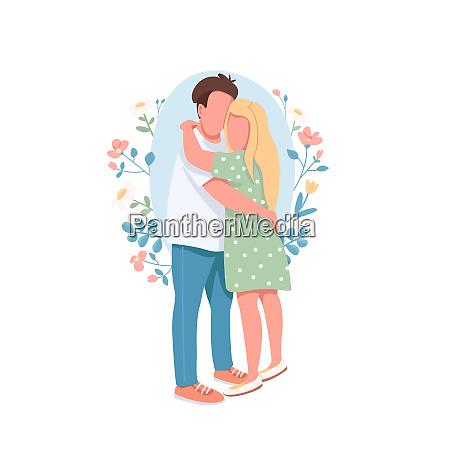 happy couple flat concept vector illustration