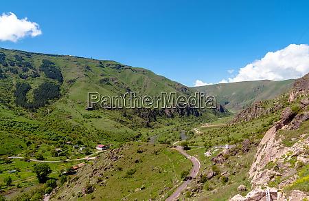 beautiful georgian landscape in summer georgia
