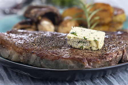 juicy grilled steak on a plate
