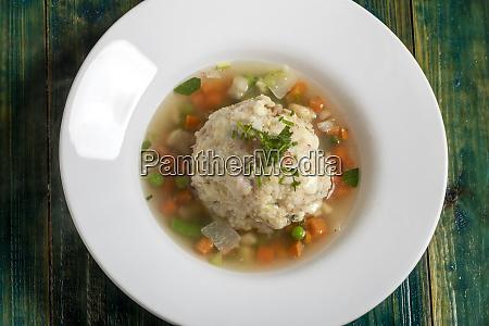 soup with a dumpling