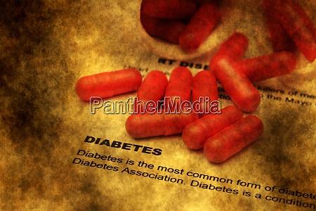 diabetes grunge concept