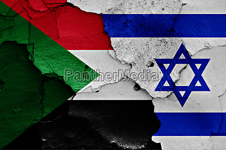 flags of sudan and israel painted