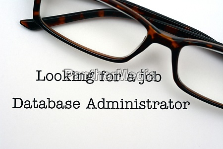 looking for a job database administrator