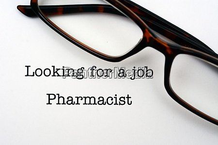 looking for a job pharmacist