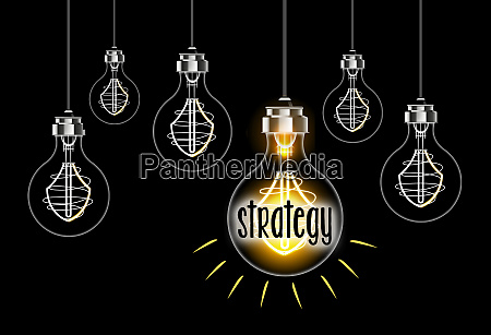 light bulb concept of strategy on
