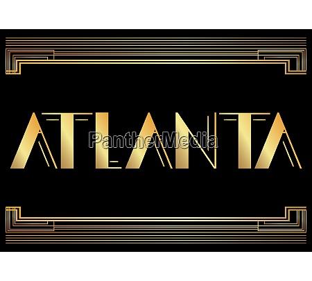 art deco atlanta text