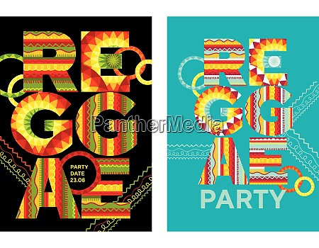 reggae music poster with huge letters