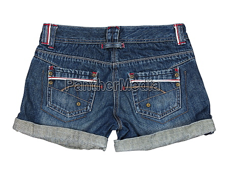 jeans shorts on the white