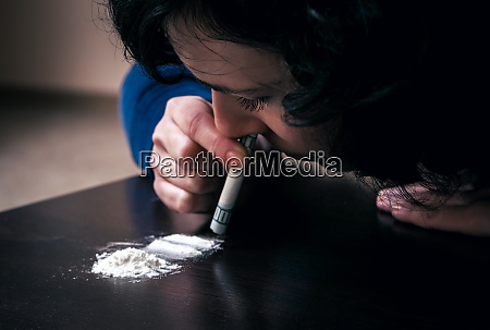 woman with the drug addiction