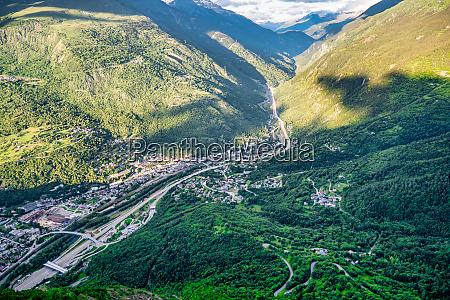 view of valley de la maurienne