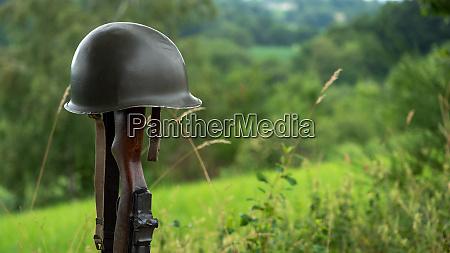 memorial battlefield cross symbol of a