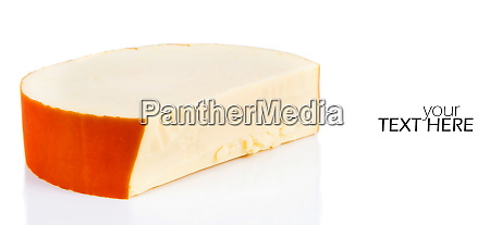 smoked cheese with copy space