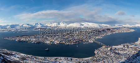 view of tromso from above