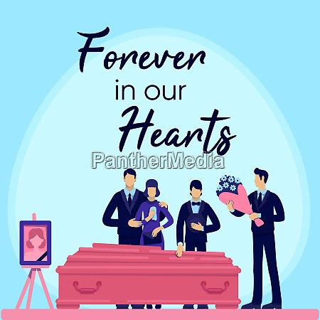 funeral ceremony social media post mockup