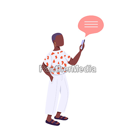 young person flat color vector faceless