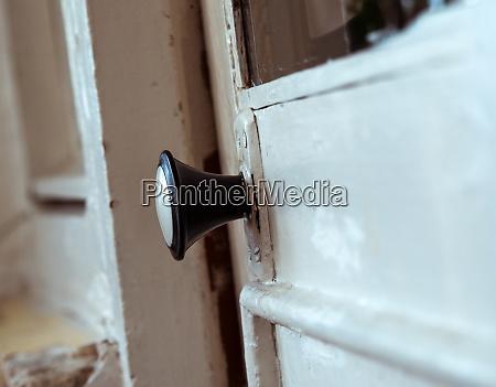old door handle closeup at home