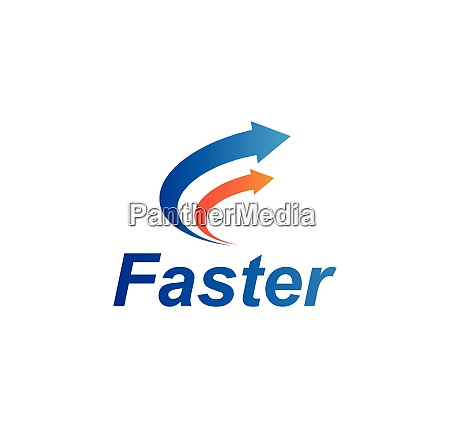 faster logo icon of automotive racing