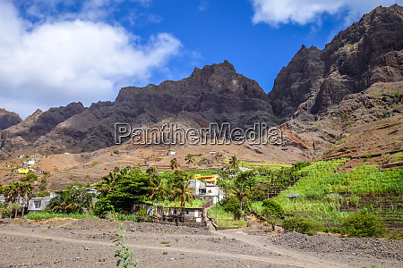 mountains landscape in santo antao island