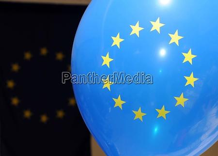blue european union eu balloon