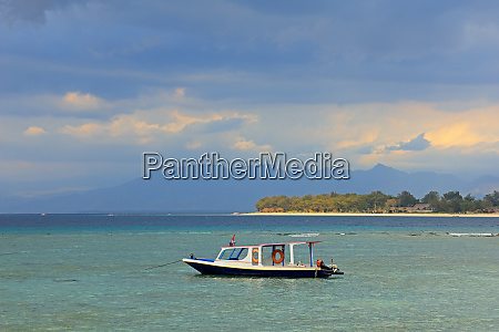 scenic tropical indonesian island