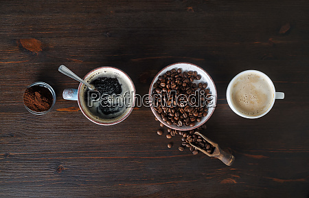 espresso coffee beans ground powder