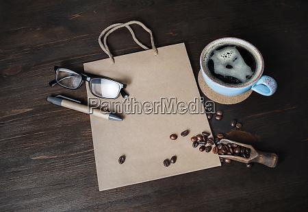 kraft paper bag coffee