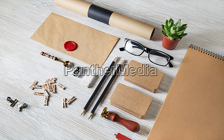 blank business stationery