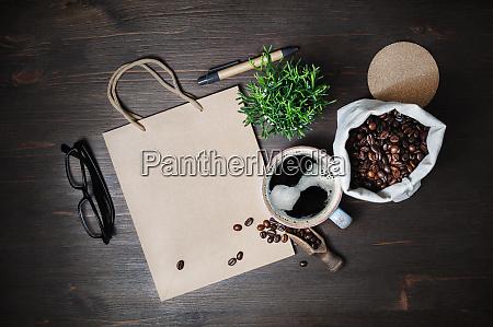 kraft stationery and coffee