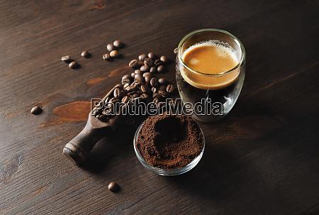 still life with espresso