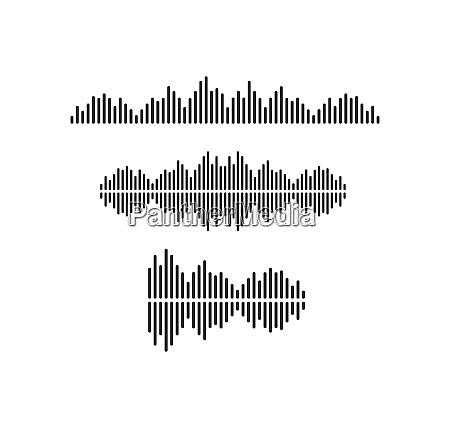 sound wave pulse ilustration logo vector