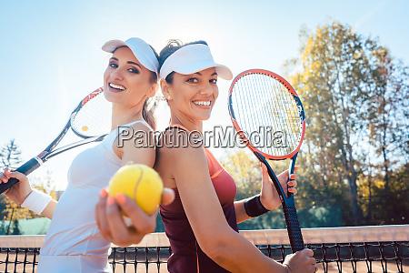 best friends of the tennis court