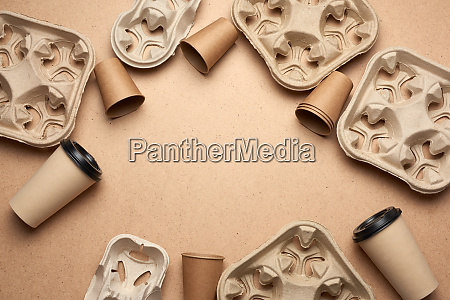 disposable paper cups from brown craft