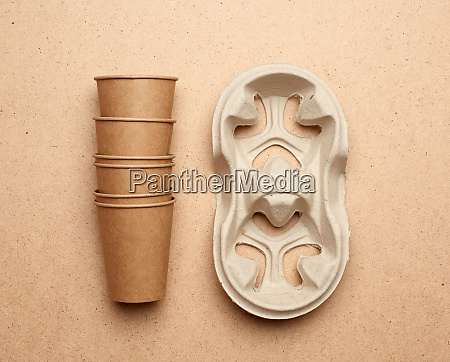 disposable brown paper craft cups and