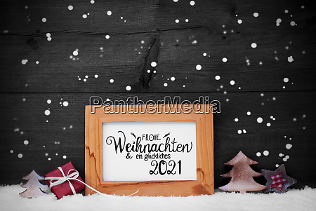 frame gift tree snow snowflakes glueckliches