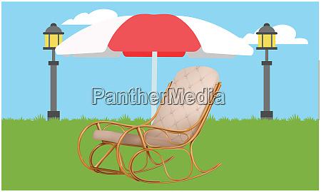 mock up illustration of rocking chair