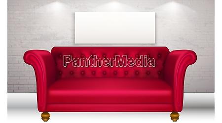 mock up illustration of red luxury
