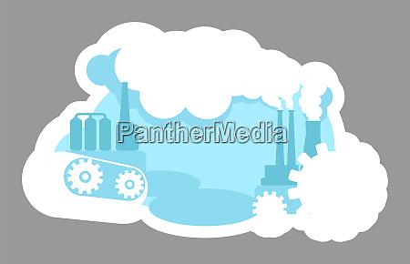 urban pollution 2d vector web banner
