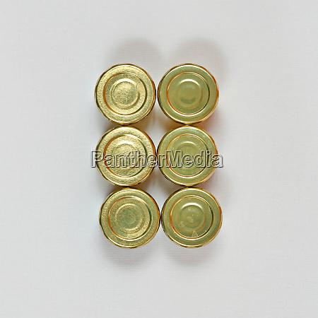six jars lids