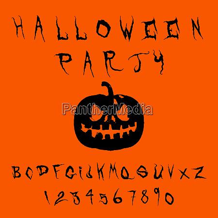 halloween splash alphabet vector eps10 illustration
