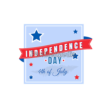 fourth of july flat color vector