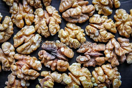 walnut kernels background texture