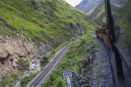 train ride in the andes of