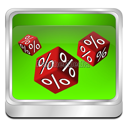 green discount button 3d illustration