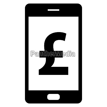 pound sterling and smartphone