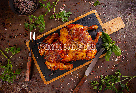 grilled fried roast chicken